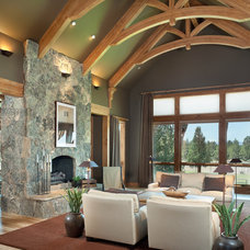 Rustic Living Room by Alan Mascord Design Associates Inc