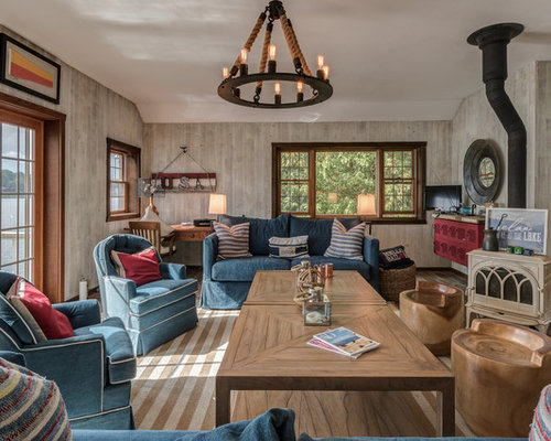 newest living room designs. Mountain style living room photo in New York Best 30 Rustic Living Room Ideas  Remodeling Photos Houzz