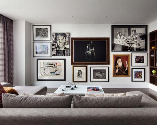 20k mid sized contemporary living room design ideas for Medium sized living room