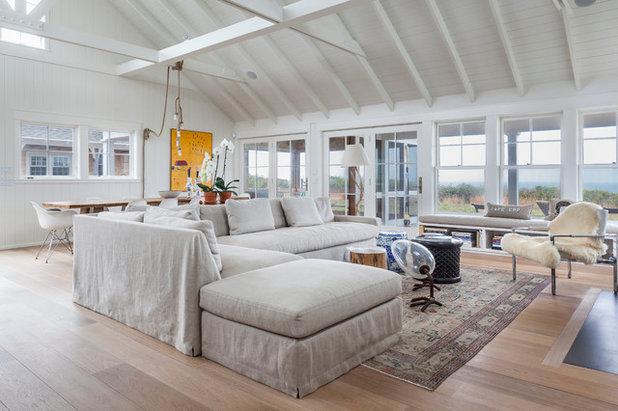 Beach Style Living Room by Siberian Floors
