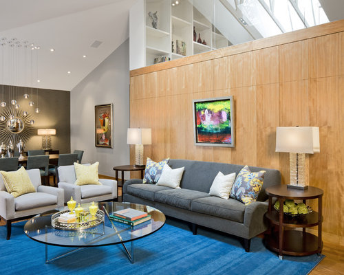 Large Contemporary Open Concept Living Room Idea In Minneapolis Part 4