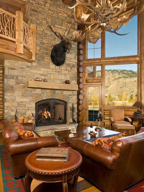 Cabin Fireplace Houzz