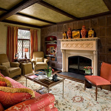 Traditional Living Room by Belle Maison Interior Design