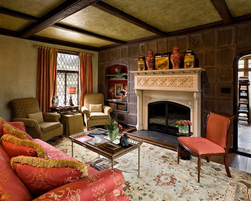 Flush hearth ideas pictures remodel and decor for Tudor style fireplace
