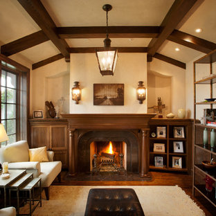 Living room library - traditional living room library idea in Minneapolis