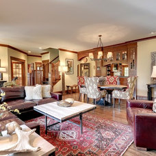 Craftsman Living Room by Jill Morgan Home Styling and Events
