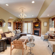 Craftsman Family Room by Jill Morgan Home Styling and Events