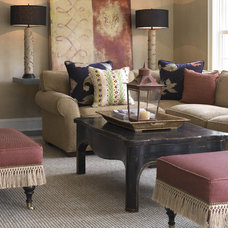 Transitional Living Room by Lucy Interior Design