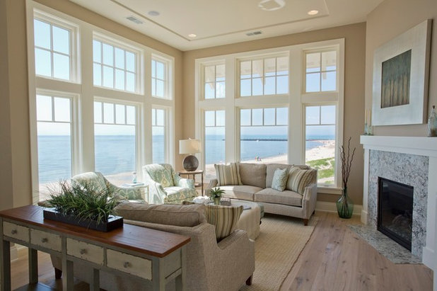 Coastal Living Room by Visbeen Architects