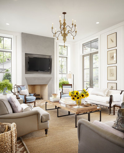 popular living room furniture. Farmhouse Family Room by Dillon Kyle Architects  DKA The Most Popular Living Photos of 2015