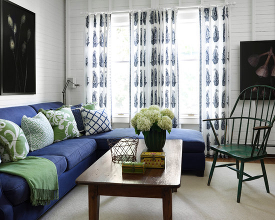 Navy Blue And Green Living Room Lime Accents Design Ideas
