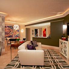 Contemporary Living Room by Emily LaMarque Design Studio