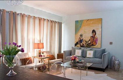 Contemporary Living Room by Bethany Lewis, R.I.D.
