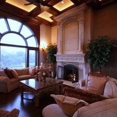Mediterranean Living Room by Eskuche Design