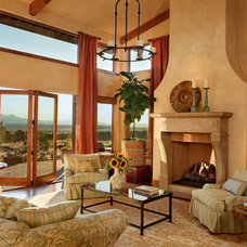 Traditional Living Room by J. S. Brown Design