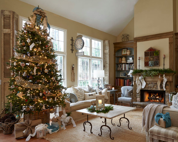 French Country Living Room by Lisa Gabrielson Design