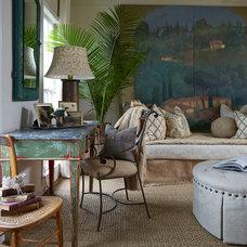 Farmhouse Living Room by Lisa Gabrielson Design