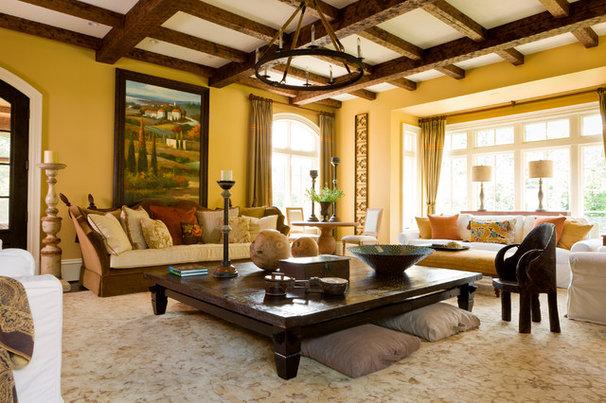 Mediterranean Living Room by Interior Concepts, Inc.