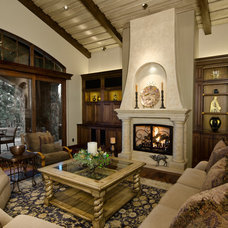 Mediterranean Living Room by Homeland Design, llc
