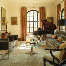Mediterranean Living Room by Marie Flanigan Interiors