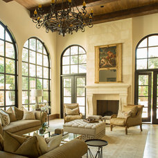 Mediterranean Living Room by Marie Flanigan Interiors