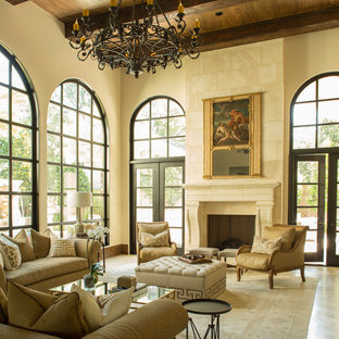 Tuscan Style in River Oaks: Living Room