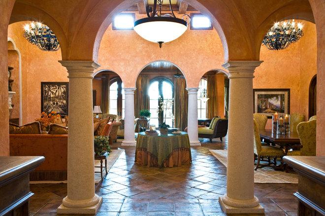Mediterranean Living Room by JMA INTERIOR DECORATION