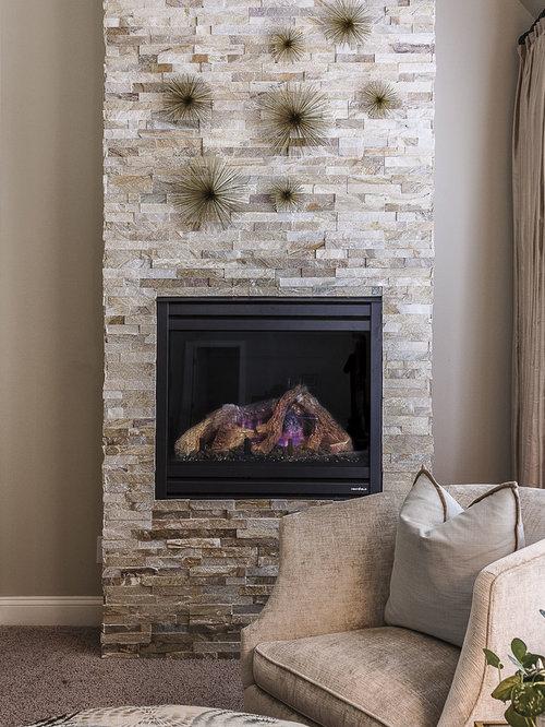 Ledger Stone Fireplace Surround Home Design Ideas