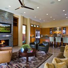 Contemporary Living Room by GRADY-O-GRADY Construction & Development, Inc.