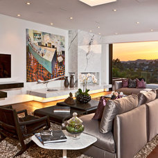 Contemporary Living Room by The Xanadu group