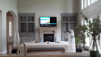 TV Mount Above Fireplace, Hardwired
