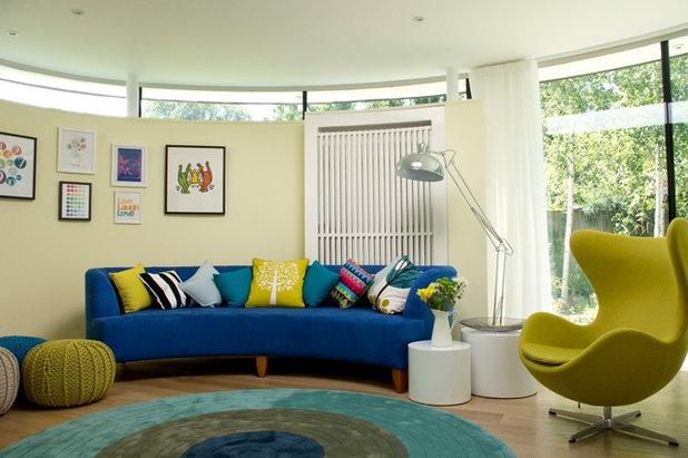 Contemporary Living Room by LLI Design