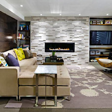 Transitional Living Room by ErthCOVERINGS