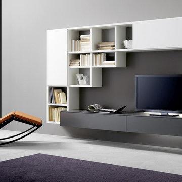 TV Unit And Bookcase, Sangiacomo Italy