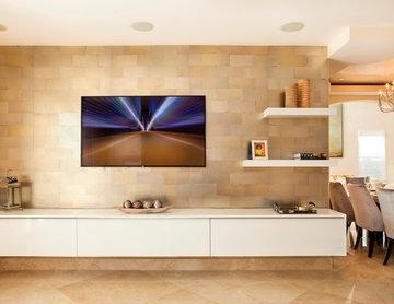 TV Wall Unit , Entertainment Center, Media Storage