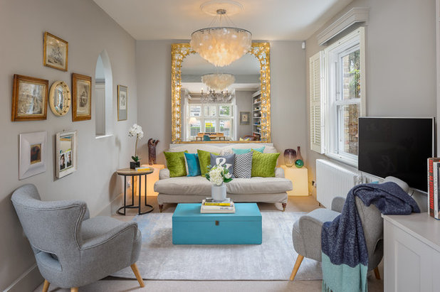 Transitional Living Room by Ademchic
