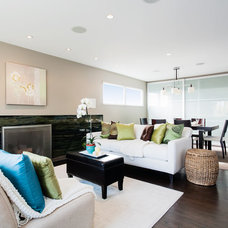Contemporary Living Room by Catherine Nguyen Photography