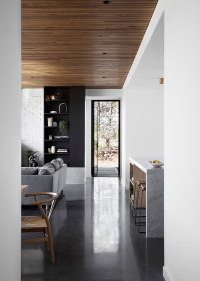 Contemporary Living Room by Tom Robertson Architects