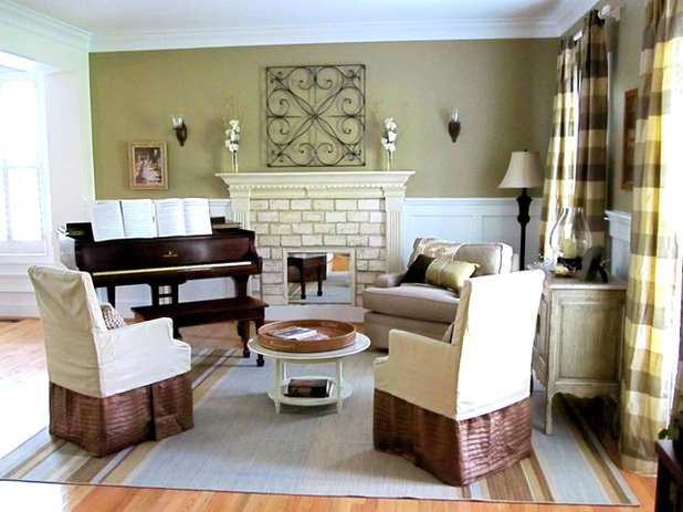 Eclectic Living Room by Two Story Cottage