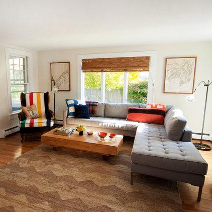 eclectic living room by Landing Design & Development