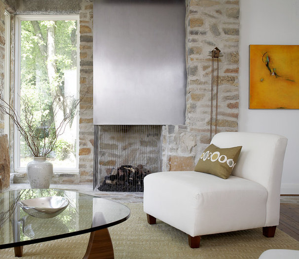 Contemporary Living Room by Michael Abraham Architecture