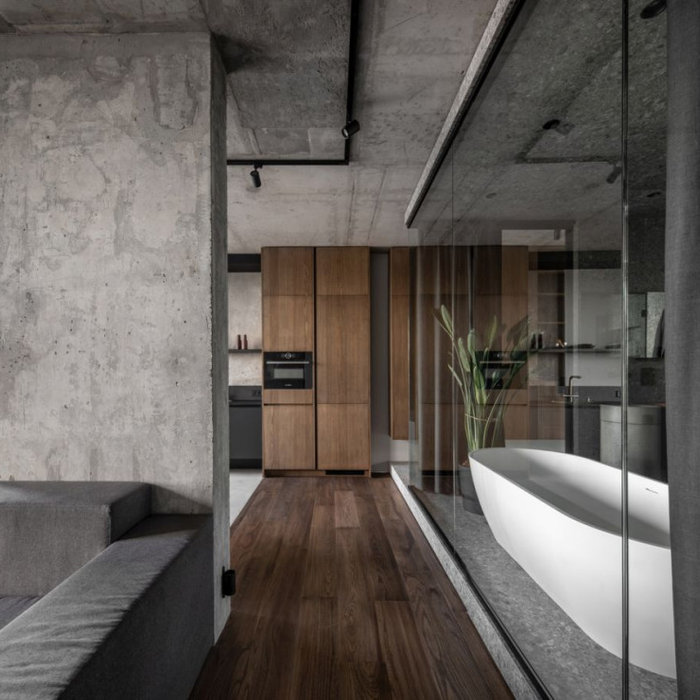 Photo of a modern living room in Sydney.