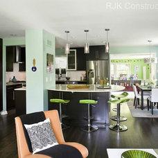 Modern Living Room by RJK Construction Inc