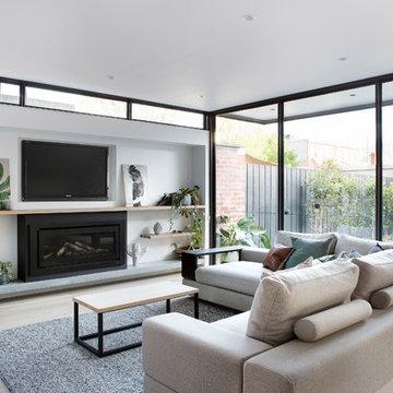 Ultra-Modern Living Space behind a restored Victorian Facade (Melbourne)