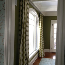 Traditional Living Room by Julie Thome Draperies, Inc.