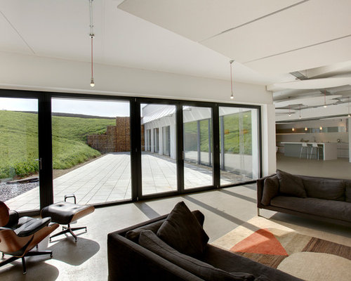 Inspiration For A Contemporary Living Room Remodel In Gloucestershire