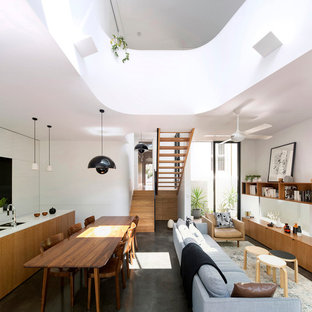Example of a minimalist living room design in Sydney