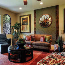 Traditional Living Room by True Interiors, LLC
