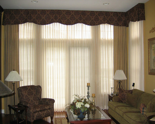 Unique window treatment home design ideas pictures - Living room picture window treatments ...