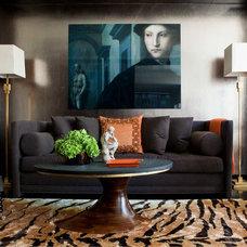 Eclectic Living Room by David Scott Interiors